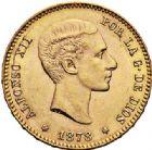 Photo numismatique  VENTE 7 juin 2017 - Coll Fr. Beau et divers MONNAIES DU MONDE ESPAGNE ALPHONSE XII (1874-1885) 548- 25 pesetas, Madrid 1878.