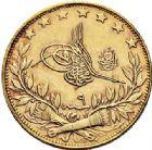 Photo numismatique  ARCHIVES VENTE 2017-7 juin - Coll Fr. Beau MONNAIES DU MONDE TURQUIE MUHAMMAD V (1909-1918) 550- 25 piastres, 1327.