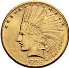 Photo numismatique  VENTE 7 juin 2017 - Coll Fr. Beau et divers MONNAIES DU MONDE ETATS-UNIS d'AMERIQUE du NORD  551- 10 dollars, 1926.