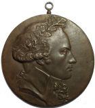 Photo numismatique  ARCHIVES VENTE 2017-7 juin - Coll Fr. Beau MÉDAILLES DAVID D'ANGERS  566 Médaillon uniface, Robespierre (1758-1794), fonte signée David d'Angers.