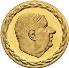 Photo numismatique  ARCHIVES VENTE 2017-7 juin - Coll Fr. Beau MÉDAILLES MEDAILLES EN OR MONNAIE DE PARIS  571- Charles de Gaulle, 1970.
