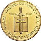 Photo numismatique  VENTE 7 juin 2017 - Coll Fr. Beau et divers MEDAILLES MEDAILLES EN OR MONNAIE DE PARIS  571- Charles de Gaulle, 1970.