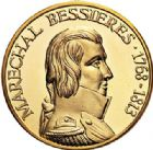 Photo numismatique  VENTE 7 juin 2017 - Coll Fr. Beau et divers MEDAILLES MEDAILLES EN OR MONNAIE DE PARIS Maréchaux d'Empire - Dôme des Invalide (1676-1976) 575 Maréchal Bessières (1768-1813).