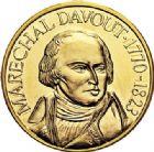 Photo numismatique  VENTE 7 juin 2017 - Coll Fr. Beau et divers MEDAILLES MEDAILLES EN OR MONNAIE DE PARIS Maréchaux d'Empire - Dôme des Invalide (1676-1976) 577- Maréchal Davout (1770-1823).