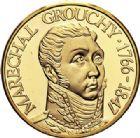 Photo numismatique  ARCHIVES VENTE 2017-7 juin - Coll Fr. Beau MÉDAILLES MEDAILLES EN OR MONNAIE DE PARIS Maréchaux d'Empire - Dôme des Invalide (1676-1976) 579- Maréchal Grouchy (1766-1847).