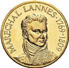 Photo numismatique  VENTE 7 juin 2017 - Coll Fr. Beau et divers MEDAILLES MEDAILLES EN OR MONNAIE DE PARIS Maréchaux d'Empire - Dôme des Invalide (1676-1976) 582-  Maréchal Lannes (1769-1809).