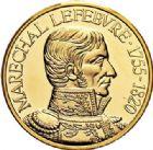 Photo numismatique  VENTE 7 juin 2017 - Coll Fr. Beau et divers MEDAILLES MEDAILLES EN OR MONNAIE DE PARIS Maréchaux d'Empire - Dôme des Invalide (1676-1976) 583-  Maréchal Lefèbvre (1755-1820).