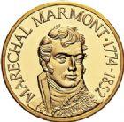 Photo numismatique  ARCHIVES VENTE 2017-7 juin - Coll Fr. Beau MÉDAILLES MEDAILLES EN OR MONNAIE DE PARIS Maréchaux d'Empire - Dôme des Invalide (1676-1976) 585- Maréchal Marmont (1774-1852).
