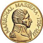 Photo numismatique  VENTE 7 juin 2017 - Coll Fr. Beau et divers MEDAILLES MEDAILLES EN OR MONNAIE DE PARIS Maréchaux d'Empire - Dôme des Invalide (1676-1976) 586- Maréchal Masséna (1756-1817).