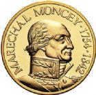 Photo numismatique  ARCHIVES VENTE 2017-7 juin - Coll Fr. Beau MÉDAILLES MEDAILLES EN OR MONNAIE DE PARIS Maréchaux d'Empire - Dôme des Invalide (1676-1976) 587-  Maréchal Moncey (1754-1842).