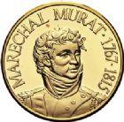 Photo numismatique  VENTE 7 juin 2017 - Coll Fr. Beau et divers MEDAILLES MEDAILLES EN OR MONNAIE DE PARIS Maréchaux d'Empire - Dôme des Invalide (1676-1976) 589-  Maréchal Murat (1767-1815).