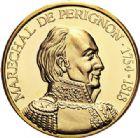 Photo numismatique  ARCHIVES VENTE 2017-7 juin - Coll Fr. Beau MÉDAILLES MEDAILLES EN OR MONNAIE DE PARIS Maréchaux d'Empire - Dôme des Invalide (1676-1976) 592-  Maréchal de Pérignon (1754-1818).