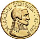 Photo numismatique  VENTE 7 juin 2017 - Coll Fr. Beau et divers MEDAILLES MEDAILLES EN OR MONNAIE DE PARIS Maréchaux d'Empire - Dôme des Invalide (1676-1976) 594-  Maréchal Serrurier (1742-1819).