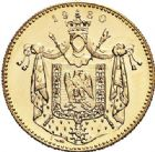 Photo numismatique  VENTE 7 juin 2017 - Coll Fr. Beau et divers MEDAILLES MEDAILLES EN OR MONNAIE DE PARIS  598- NAPOLÉON Ier. Module de 20 francs or, 1980.