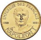 Photo numismatique  ARCHIVES VENTE 2017-7 juin - Coll Fr. Beau MÉDAILLES MEDAILLES EN OR MONNAIE DE PARIS  600- NAPOLÉON Ier. Module de 20 francs or (1) et argent (2), 1980.