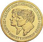 Photo numismatique  VENTE 7 juin 2017 - Coll Fr. Beau et divers MEDAILLES MEDAILLES EN OR MONNAIE DE PARIS  604- J. F. Kennedy (1917-1963) et R. F. Kennedy (1925-1968).