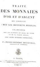 Photo numismatique  ARCHIVES VENTE 2017-7 juin - Coll Fr. Beau OUVRAGES NUMISMATIQUES   619- Bonneville, Traité.