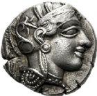 Photo numismatique  ARCHIVES VENTE 2017-7 juin - Coll Fr. Beau DERNIÈRE MINUTE GRÈCE - ATTIQUE. ATHÈNES  658- Tétradrachme, (480-400).