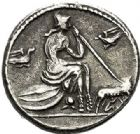 Photo numismatique  VENTE 7 juin 2017 - Coll Fr. Beau et divers DERNIERE MINUTE RÉPUBLIQUE ROMAINE  662- Denier anonyme, (vers 115/114).