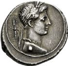 Photo numismatique  VENTE 7 juin 2017 - Coll Fr. Beau et divers DERNIERE MINUTE EMPIRE ROMAIN - OCTAVE-AUGUSTE (29 avant J.C.-14 après).  663- Denier, Rome, (29 avant J.C.).