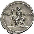 Photo numismatique  ARCHIVES VENTE 2017-7 juin - Coll Fr. Beau DERNIERE MINUTE EMPIRE ROMAIN - OCTAVE-AUGUSTE (29 avant J.C.-14 après).  663- Denier, Rome, (29 avant J.C.).