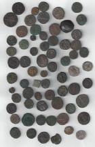 Photo numismatique  ARCHIVES VENTE 2017-7 juin - Coll Fr. Beau DERNIÈRE MINUTE EMPIRE ROMAIN - Lot   667 Lot de 68 monnaies romaines et diverses du Ier au IVe siècle.