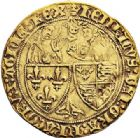Photo numismatique  ARCHIVES VENTE 2017-7 juin - Coll Fr. Beau DERNIÈRE MINUTE France. HENRI VI, roi de France et d'Angleterre  (31 octobre 1422-19 octobre 1453).  668- Salut d'or de la 2ème émission (6 septembre 1423), Paris.