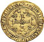 Photo numismatique  ARCHIVES VENTE 2017-7 juin - Coll Fr. Beau DERNIÈRE MINUTE FRANCE - CHARLES VII (1422-1461)  669- Écu d'or à la couronne du 3ème type, 4ème émission (28 janvier 1436), Rouen.
