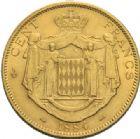 Photo numismatique  MONNAIES MONNAIES DU MONDE MONACO CHARLES III (1856-1889) 100 francs or, Paris 1884.