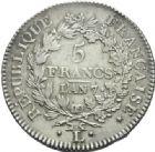 Photo numismatique  MONNAIES MODERNES FRANÇAISES LE DIRECTOIRE (27 octobre 1795-10 novembre 1799)  5 francs, Bayonne, an 7.