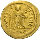 Photo numismatique  MONNAIES EMPIRE BYZANTIN PHOCAS (602-610)  Solidus, Constantinople.