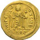 Photo numismatique  MONNAIES EMPIRE BYZANTIN PHOCAS (602-610)  Solidus, Constantinople.
