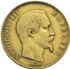 Photo numismatique  MONNAIES MODERNES FRANÇAISES NAPOLEON III, empereur (2 décembre 1852-1er septembre 1870)  50 francs or, Paris, 1858.