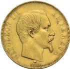 Photo numismatique  MONNAIES MODERNES FRANÇAISES NAPOLEON III, empereur (2 décembre 1852-1er septembre 1870)  50 francs or, Paris, 1857.