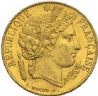 Photo numismatique  MONNAIES MODERNES FRANÇAISES 2e REPUBLIQUE (24 février 1848-2 décembre 1852)  20 francs or, Paris, 1851.