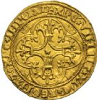 Photo numismatique  MONNAIES ROYALES FRANCAISES CHARLES VI (16 septembre 1380-21 octobre 1422)  Ecu d'or à la couronne, 3ème ou 4ème émission, Tours.