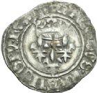 Photo numismatique  MONNAIES ROYALES FRANCAISES CHARLES VI (16 septembre 1380-21 octobre 1422)  Florette, Chinon.
