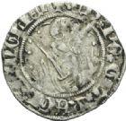 Photo numismatique  MONNAIES BARONNIALES Duché d'AQUITAINE EDOUARD, prince noir (1352-1372) Demi-gros, Limoges.