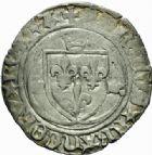 Photo numismatique  MONNAIES ROYALES FRANCAISES CHARLES VIII (20 août 1483-7 avril 1498)  Blanc à la couronne, Aix.
