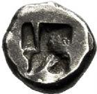 Photo numismatique  VENTE 6 oct 2017 - Coll Dr Y. Goalard et divers GRECE ANTIQUE GAULE Types du trésor d'Auriol (Ve siècle) 1- Hémiobole au protomé de Pégase, (470-460).