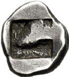 Photo numismatique  VENTE 6 oct 2017 - Coll Dr Y. Goalard et divers GRECE ANTIQUE GAULE Types du trésor d'Auriol (Ve siècle) 2- Tritémorion phocaïque au casque court, (495-465).