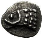 Photo numismatique  VENTE 6 oct 2017 - Coll Dr Y. Goalard et divers GRECE ANTIQUE GAULE EMPORIUM (Catalogne) 11- Obole ou tritémorion phocaïque, (470-460).