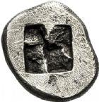 Photo numismatique  VENTE 6 oct 2017 - Coll Dr Y. Goalard et divers GRECE ANTIQUE GAULE Types assimilés au trésor d'Auriol (Ve siècle) 14- Hémiobole de type milésiaque, (475-460).