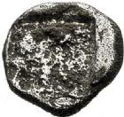 Photo numismatique  ARCHIVES VENTE 2017-6 oct - Coll Dr Y. Goalard GRECE ANTIQUE GAULE Types assimilés au trésor d'Auriol (Ve siècle) 18- Obole au phoque à droite, (500-475).
