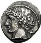 Photo numismatique  VENTE 6 oct 2017 - Coll Dr Y. Goalard et divers GRECE ANTIQUE ITALIE - Etrurie  33- Drachme de 10 asses (350-280).