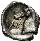 Photo numismatique  VENTE 6 oct 2017 - Coll Dr Y. Goalard et divers GRECE ANTIQUE Italie - Calabre Tarente (302-209) 35- Obole ou tritemoria.