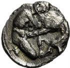 Photo numismatique  VENTE 6 oct 2017 - Coll Dr Y. Goalard et divers GRECE ANTIQUE Italie - Calabre Tarente (272-235) 38- Obole.