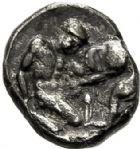 Photo numismatique  VENTE 6 oct 2017 - Coll Dr Y. Goalard et divers GRECE ANTIQUE Italie - Lucanie Héraclée (380-281) 39- Diobole, (380-281).