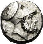 Photo numismatique  VENTE 6 oct 2017 - Coll Dr Y. Goalard et divers GRECE ANTIQUE Italie - Lucanie Métaponte (350-330) 45- Tétradrachme, (350-330).
