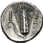 Photo numismatique  VENTE 6 oct 2017 - Coll Dr Y. Goalard et divers GRECE ANTIQUE Italie - Lucanie Métaponte (350-330) 46- Statère, (350-330).